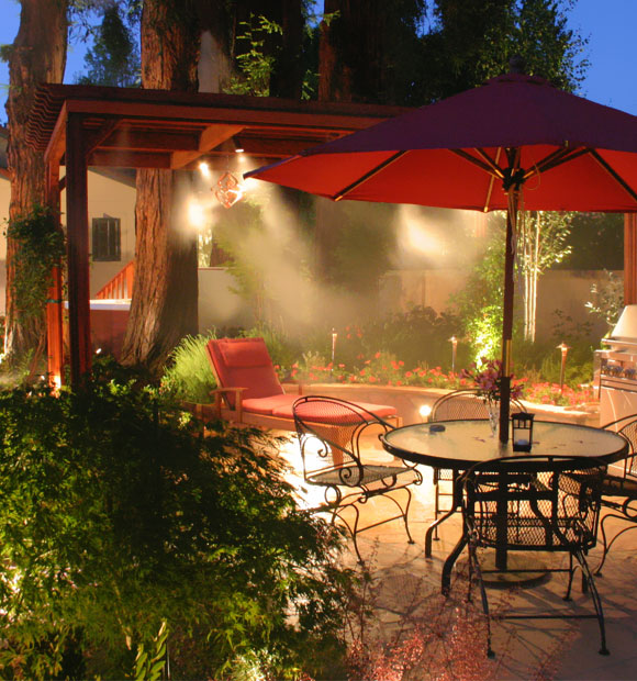 Outdoor Misting System : Outdoor cooling patio misting system mist